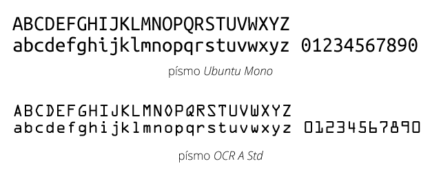 Monospaced písma
