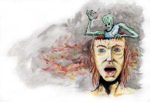 ilustrace k povídce Mozek