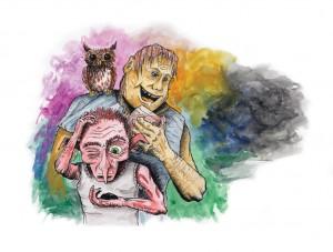 Ilustrace k povídce Kameny