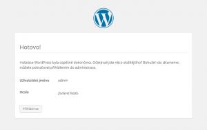 Jan Konečný - WordPress - Hotová instalace